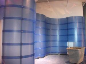 Curvy Blue Walls in Place - A backdrop for some impressive upcoming specimens