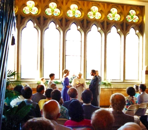 View of the ceremony.