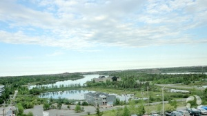 View of Yellowknife from a hotel.