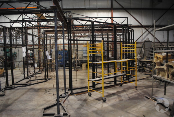 The steel frame in the RCI workshop.