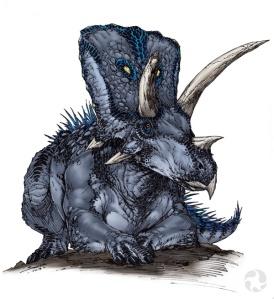 Illustration of an Arrhinoceratops.
