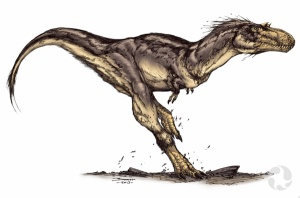 Colour illustration of Gorgosaurus.