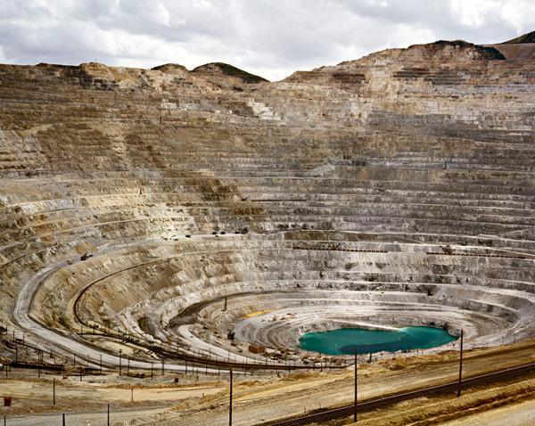 Edward Burtynsky photo of Kennecott Copper Mine in Utah.