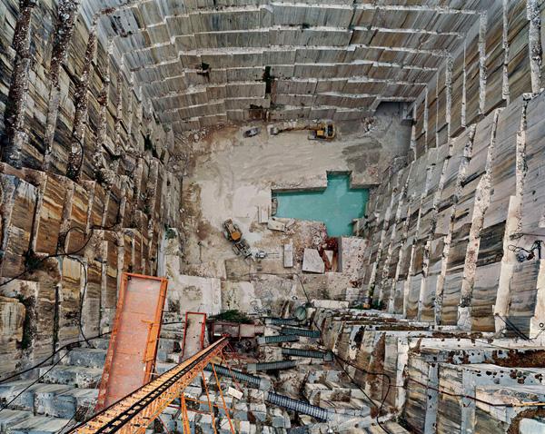 Edward Burtynsky photo of a deep quarry in Portugal.