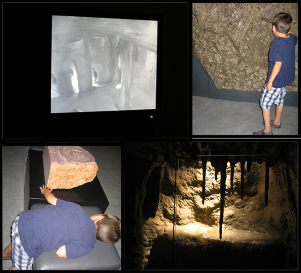 A collage of photos of the Vale Earth Gallery and a boy on a visit.