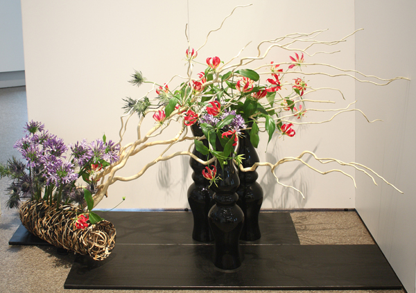 An example of an ikebana arrangement.