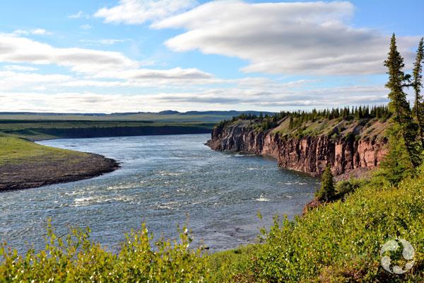 The Sandstone Rapids of the Coppermine River.