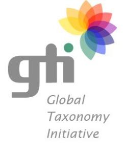 Logo of the Global Taxonomy Initiative