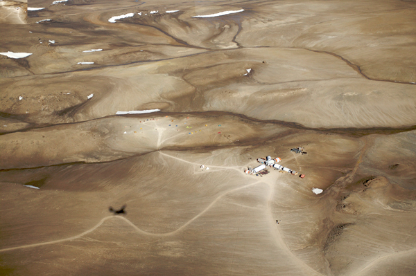 Aerial view of the Haughton-Mars Project site.