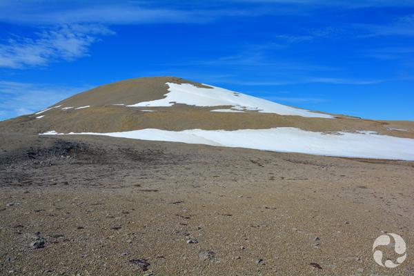 A barren landscape.