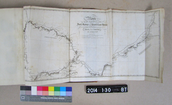 One of the maps unfolded from the book.