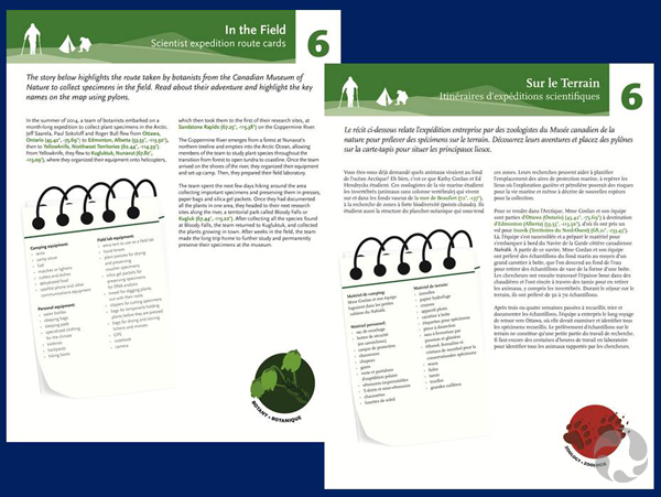 Two pages with descriptions of lesson plans based on museum field expeditions.