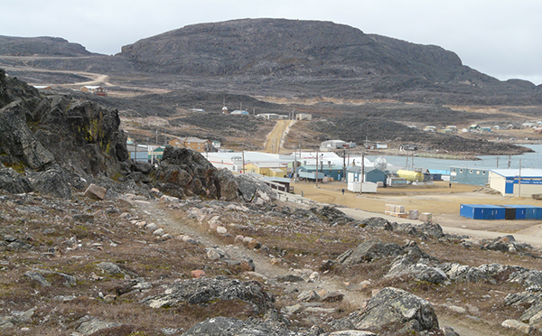 View of Cape Dorset in summer.