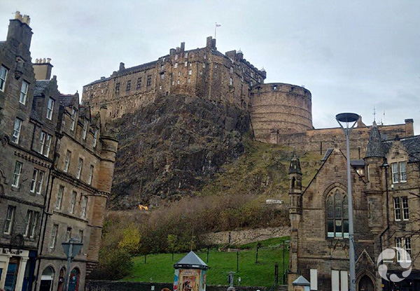 View of Edinburgh Castle.