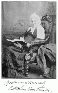 "Photograph of Catharine Parr Traill. Inscription: ""Yours very sincerely. Catharine Parr Traill""."