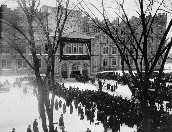 Wilfrid Laurier's funeral cortège.