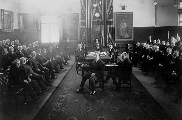 The Senate of Canada in the museum.