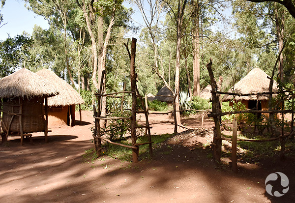A traditional Kenyan village.