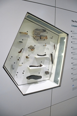 Artifacts on display in the museum.