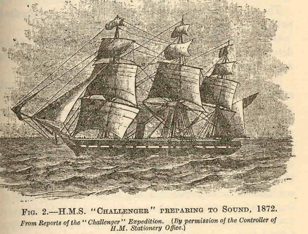 A Victorian illustration of a large sailing ship